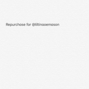 Repurchase for @liltinaoemason
